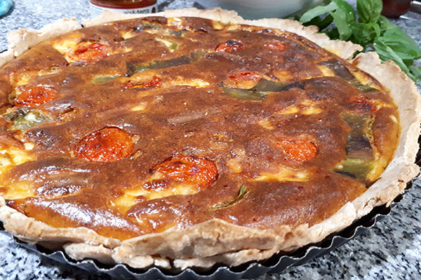 Quiche con delicias de tomates aix&terra