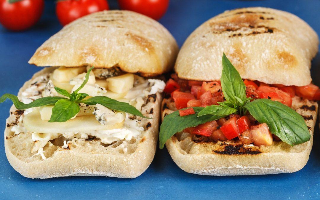 Duo de sandwiches rojo&blanco